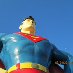 Superman and Lois Lane are nearby