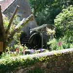 The water wheel opposite The Granary