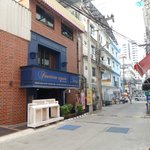 Front of hotel entrance on soi 14. 10 steps from 2nd road
