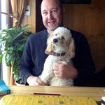 Best part of our stay… Charlie my Scrabble partner!