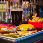 American Classics: Angus beef Cheeseburger and a Beer