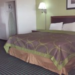 "King bed, 32"" flat screen tv, micro-fridge, free Wi-Fi, In-room coffee, hair dryer, iron & iron"