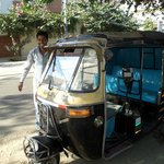 Shabbir the driver with his TUK TUK