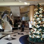 lobby is ready for Christmas