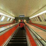 The Prague metro in the Morning on way to Andel.