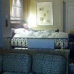 Opa relaxing in the Venetian Las Vegas Suite.