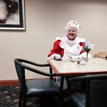Mrs Santa Claus visiting the Wingate