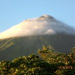 Arenal Volcano, view from our room