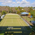 Have a hit on our full sized court (racquets and balls can be hired from reception)