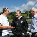 David Campese with two legends outside the Maritime Hotel