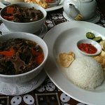 The food - oxtail soup