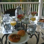 lovely breakfast from our Veranda