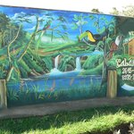 Mural at entrance to Monteverde Villa Lodge