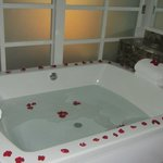 Bath tub in room