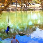 Kids love swinging out over the water and jumping in