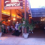 Hotel Molokai's main entrance.