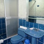 Blue Bathroom... but clean & well maintained