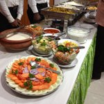 Buffet for event very good