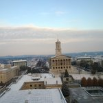 morning view of snowy Capital building