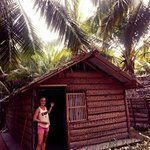 The traditional coconut hut we stayed in