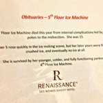 Clever Sign on Broken Ice Machine