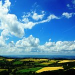 View from Painswick Beacon looking south towards the River Severn