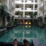 picture of the pool and my feet