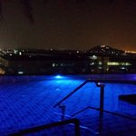 Top floor pool at night