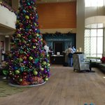 Front lobby with Christmas decorations