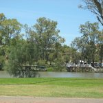 The view from our camper-trailer of the Murray River