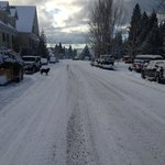 McCloud Main St. in the snow Dec. 2013