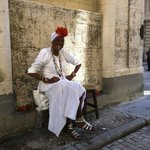 In San Francisco Square, Old Havana