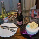 Complimentary birthday cake in room