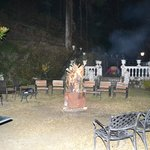 Bonfire in the Hotel Gardens