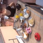 Breakfast in the sun on the roof terrace