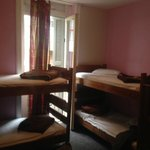 Half of a room (3 bunk beds in each of the 2 rooms I stayed in), both with en suite