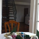 Breakfast room and stair to top room