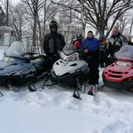 Trempealeau county snowmobile trails come right past the gates of the inn.