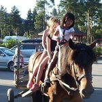 Little one on the horse riding