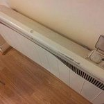 Heater was badly dented! Health and Safety? It was not even switched on when I arrived at 11pm.