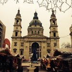 Christmas market in Basilica Square, literally 100 meters away from the hostel