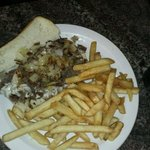 Philly Cheese Steak with french fries