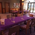 Tables set for booked Christmas meals