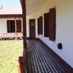 SHutters and corridor outside the guest rooms