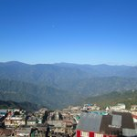 View over Darjeeling from attic room