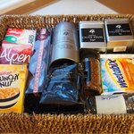 Welcome Hamper.  There was also some food in the fridge.