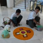 Flower art of lobby floor