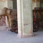"Beautiful ""elephant cart"" in a courtyard"
