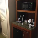 Mini Fridge and Microwave