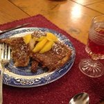 delicious pecan encrusted french toast for breakfast!